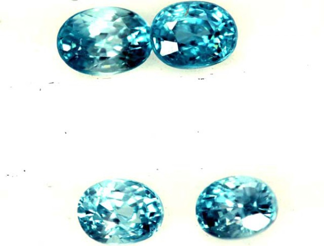 BLUE TOPAZ NATURAL FACETED (4 PCS) 2.25 CTS  PG-1333