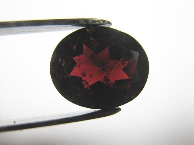 5.1 carat FACETED DARK RED ALMANDITE GARNET GEM