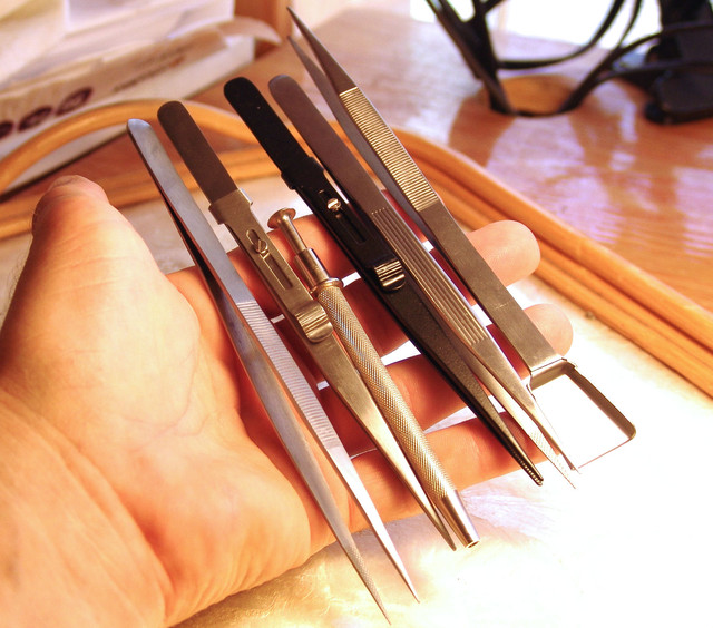 6 Piece Tweezer Set - Excellent Tools