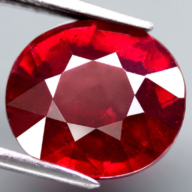 5.57 Carat Cherry Ruby - Fiery and Beautiful