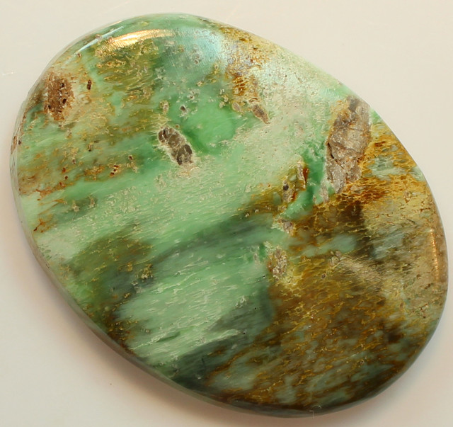 45.60 CTS VARISCITE SIZABLE CABOCHON FROM AUSTRALIA