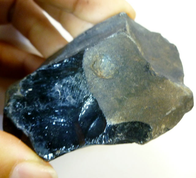 628 CTS OBSIDIAN ROUGH MEXICO   AGR 131