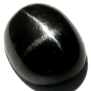 OVAL BLACK STAR DIOPSIDE CAB  2.45 CT. THIS IS THE ACTUAL GEM YOU WILL RECEIVE.