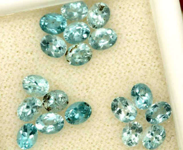 BLUE TOPAZ NATURAL FACETED (18 PCS) 2.35 CTS  PG-1505