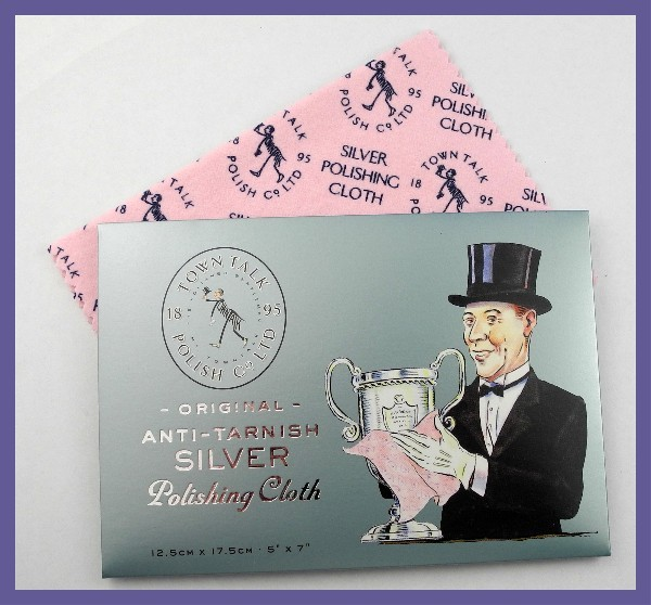 QUALITY ANTI-TARNISH SILVER POLISHING CLOTH-MADE IN ENGLAND