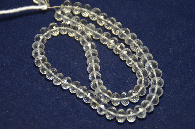 "8.5/8mm Diamond quartz faceted beads AAA 15-16"" dqr01"