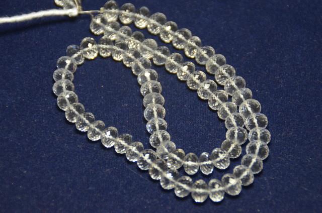 8.5/8mm Diamond quartz faceted beads AAA 15-16