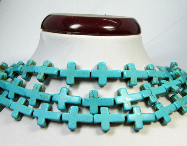 345 CTS THREE TURQUOISE CROSS STRANDS AGR 152