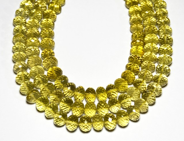 "7-9mm Gold COGNAC QUARTZ  faceted beads 5"" lemq005"