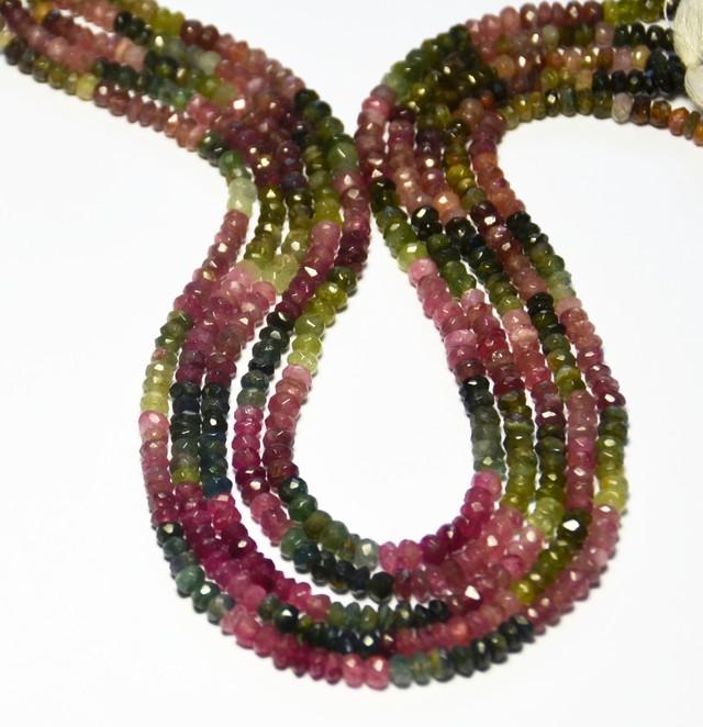 "NEW ARRIVAL AA Grade WATERMELON TOURMALINE beads 3-4mm 14"""