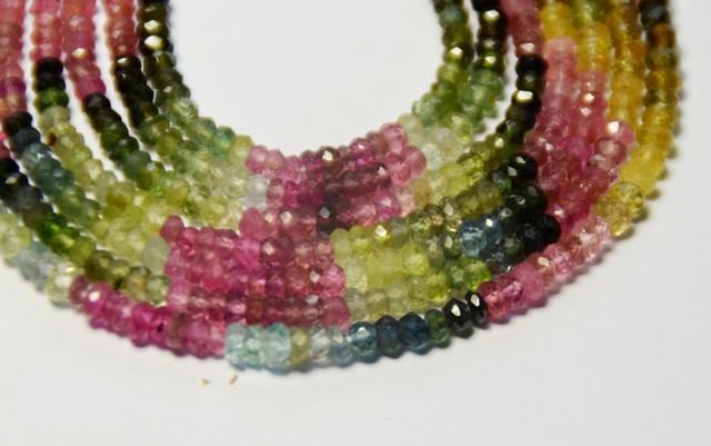 AAA Watermelon Tourmaline Beads 2.5-3.5mm 13in TOU008 SALE