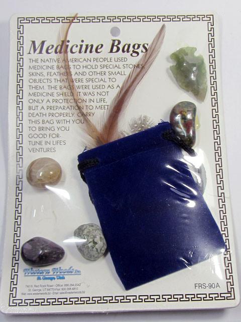 NATIVE AMERICAN INDIAN MEDICINE BAG  AGR 188