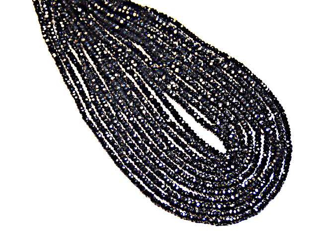 AAA 2mm Black Spinel beads diamond polished 13