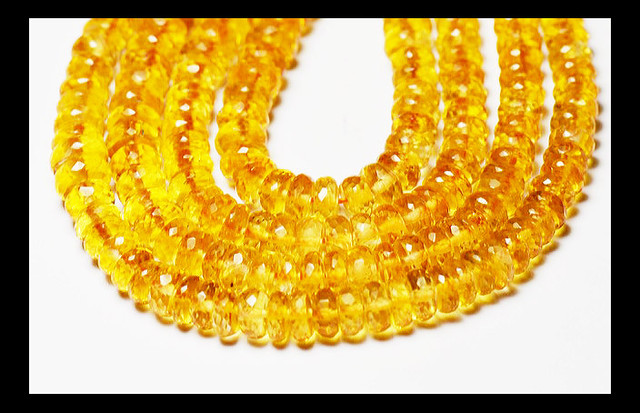 5mm - 6mm orange CITRINE faceted beads rondelles AAA 16