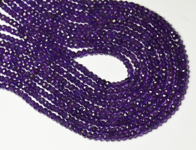 AFRICAN AMETHYST faceted beads 4mm 14
