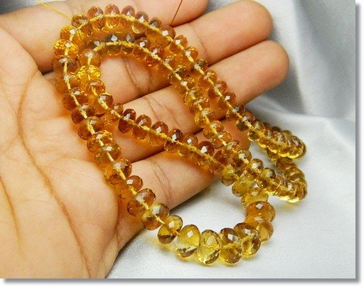 194cts  AAA Quality Natural Brazil Citrine Faceted Beads