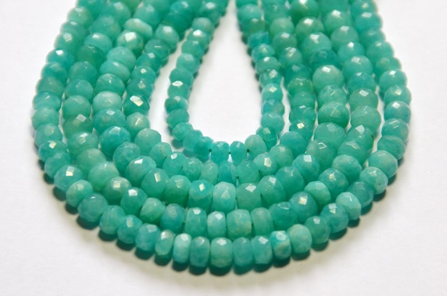 NEW ARRIVAL AAA Amazonite faceted beads 9