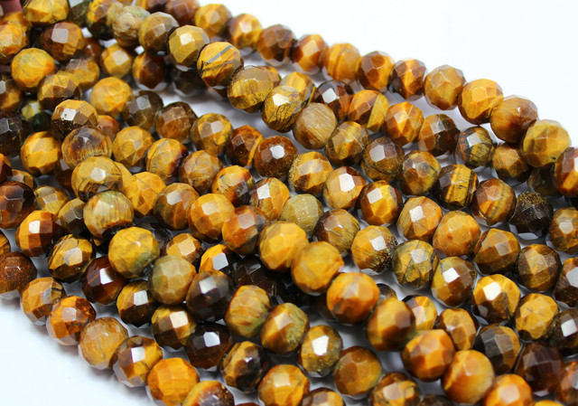 410 CTS-1 STRAND TIGER EYE FACETED 12 X 10 MM 15 INCH + CLASP