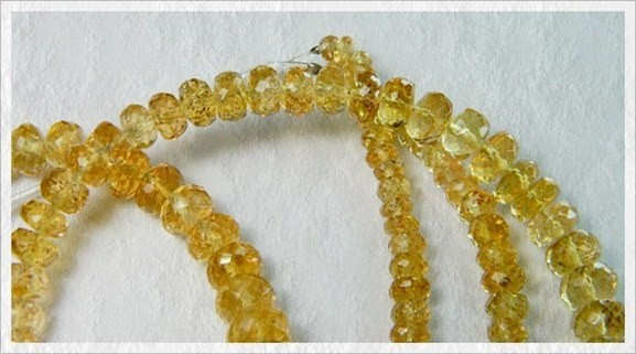 100% Natural Brazil Topaz Faceted Beads J10