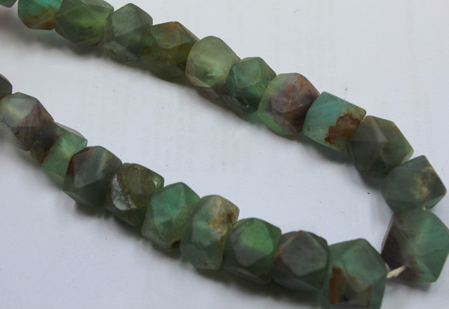 645CTS-1 STRAND FLUORITE BEADS 16 INCH + CLASP