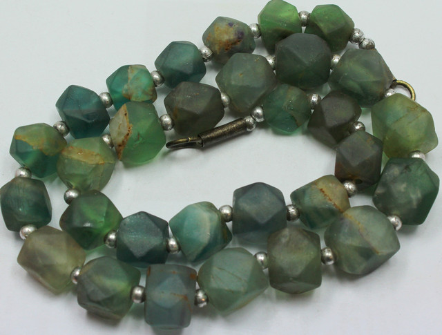 505CTS-1 STRAND FLUORITE BEADS 16 INCH + CLASP