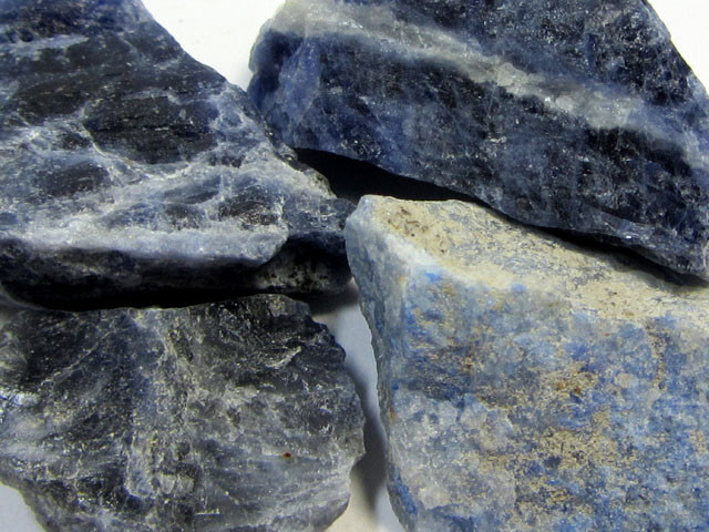 11CTS SODALITE ROUGH 4 PIECES TW 1294