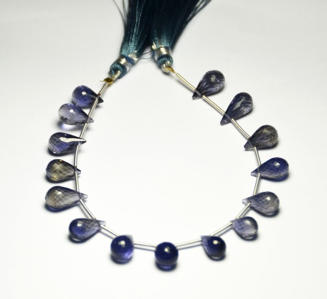 IOLITE faceted briolettes 11-14mm AAA Grade  iob001