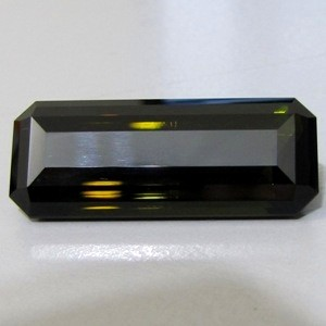 CERTIFIED 42.66ct JUMBO! Greenish Black TOURMALINE Gem Congo