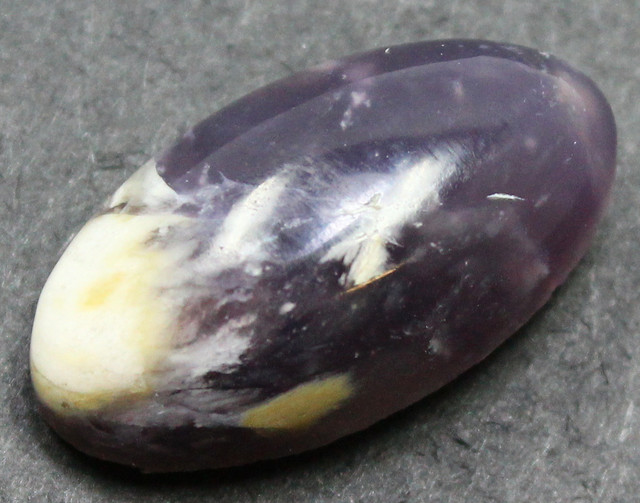 22.00 CTS LAVENDER JASPER CABOCHON STONE FROM OLD COLLECTION