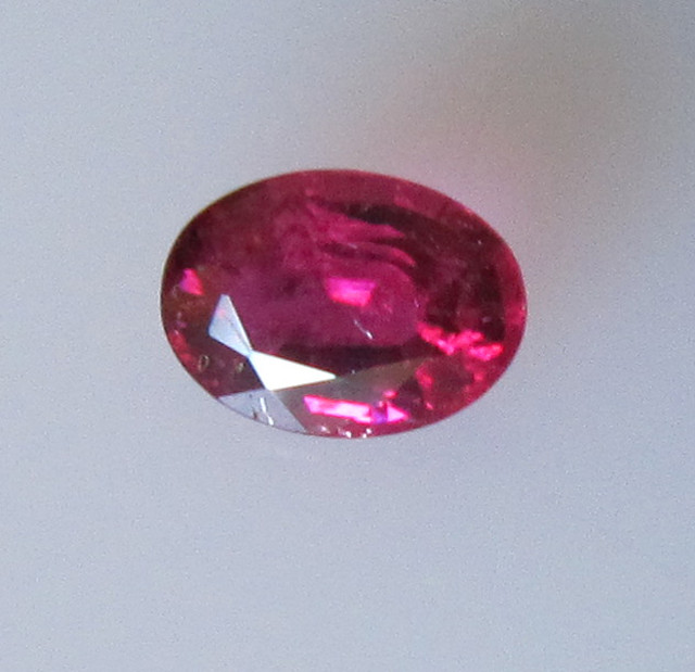 Super Hot Pink Tourmaline Oval, 0.36cts