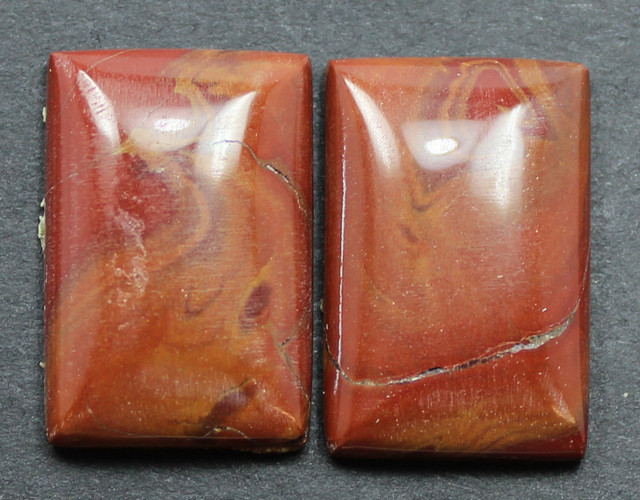 21.05 CTS NOREENA JASPER PAIR PERFECT FOR EARRINGS
