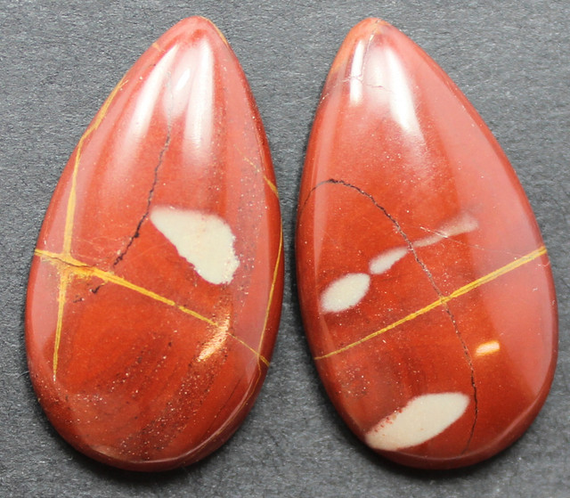 25.65 CTS NOREENA JASPER PAIR PERFECT FOR EARRINGS