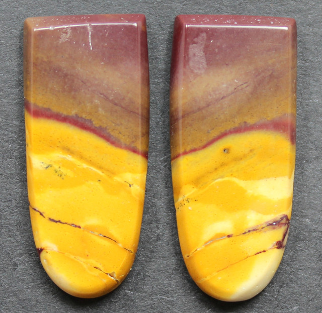 17.80 CTS MOOKAITE JASPER CABOCHON PAIR PERFECT FOR EARRINGS