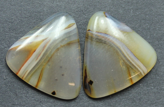 9.95 CTS WYOMING AGATE PAIR PERFECT FOR EARRINGS