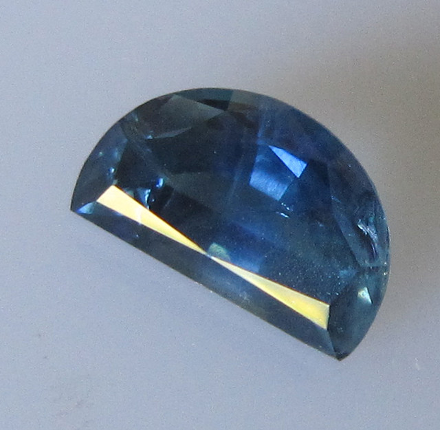 1.96cts Madagascan Half Moon Cut Blue Sapphire