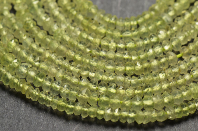 AAA PREHNITE faceted beads 2.5 to 3mm 14