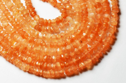 2mm to 3mm PINK MOONSTONE faceted beads 14