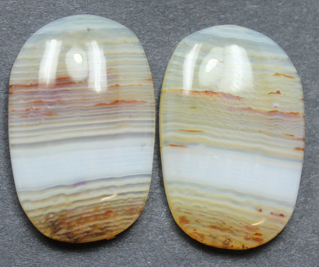 24.80 CTS WYOMING AGATE PAIR PERFECT FOR EARRINGS