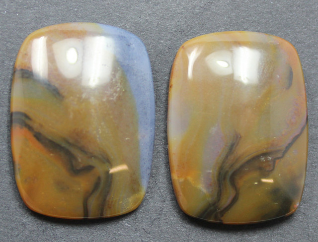 32.50 CTS WYOMING AGATE PAIR PERFECT FOR EARRINGS