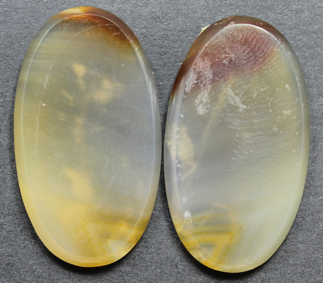 35.25 CTS WYOMING AGATE PAIR PERFECT FOR EARRINGS