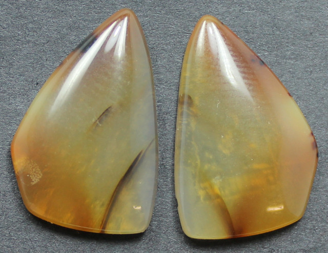 14.30 CTS WYOMING AGATE PAIR PERFECT FOR EARRINGS