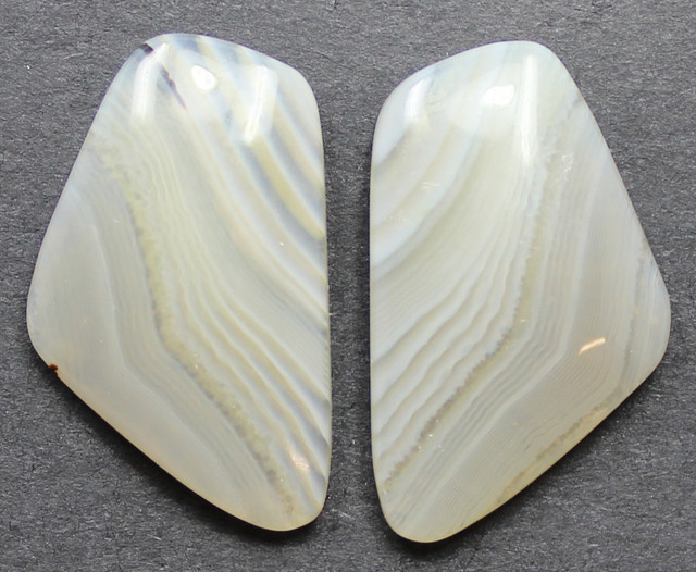 13.30 CTS WYOMING AGATE PAIR PERFECT FOR EARRINGS