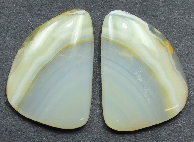 13.60 CTS WYOMING AGATE PAIR PERFECT FOR EARRINGS