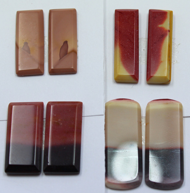 58.50 CTS -  4 SETS OF MOOKAITE JASPER  PAIR PARCEL DEAL