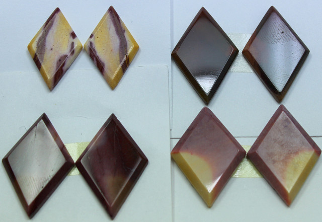 74.50 CTS -  4 SETS OF MOOKAITE JASPER  PAIR PARCEL DEAL