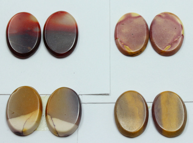 39.00 CTS -  4 SETS OF MOOKAITE JASPER  PAIR PARCEL DEAL