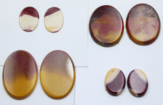 51.95 CTS -  4 SETS OF MOOKAITE JASPER  PAIR PARCEL DEAL