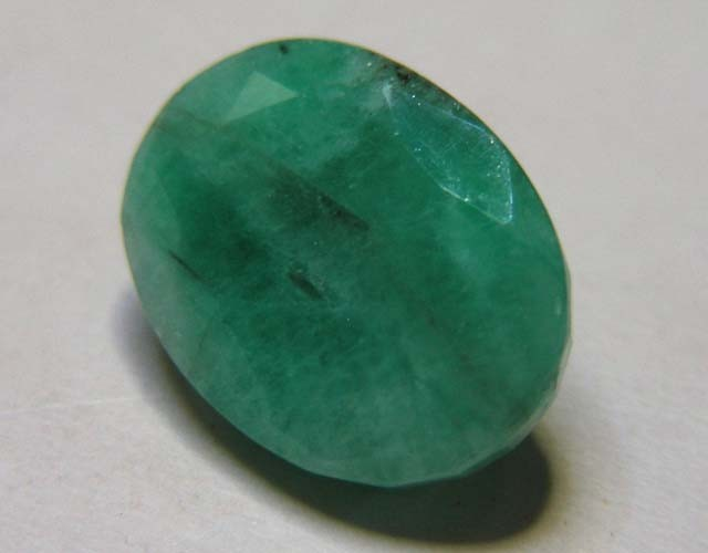 5.09 CTS OVAL FACTED EMERALD  11370