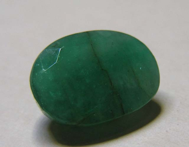 4.77 CTS OVAL FACTED EMERALD  11374