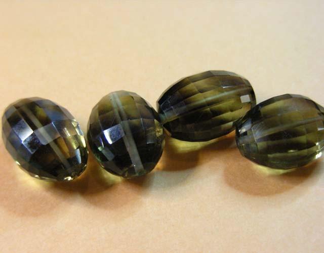 51.25 CTS BI COLOUR GOLD BLACK AMETRINE BEADS  11 204